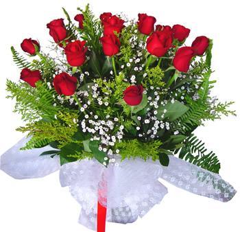 11 adet gösterisli kirmizi gül buketi  Elazığ İnternetten çiçek siparişi