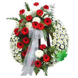 Cenaze çelengi cenaze çiçek modeli  Elazığ ucuz çiçek gönder
