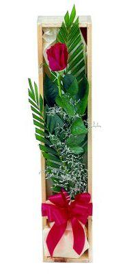 1 adet kutuda kirmizi gül  Elazığ anneler günü çiçek yolla