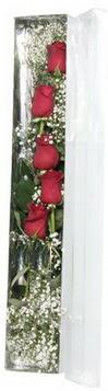 Elazığ çiçek yolla , çiçek gönder , çiçekçi    5 adet gülden kutu güller