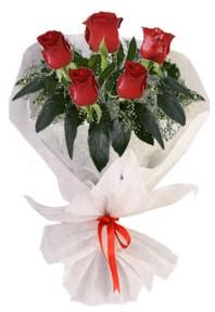 5 adet kirmizi gül buketi  Elazığ çiçek gönderme sitemiz güvenlidir