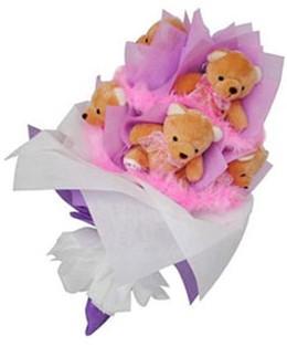 9 adet ayiciktan buket  Elazığ çiçek siparişi sitesi
