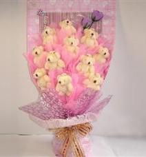 11 adet pelus ayicik buketi  Elazığ hediye sevgilime hediye çiçek