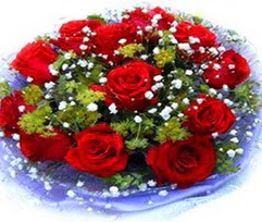 9 adet kirmizi güllerden buket  Elazığ çiçek servisi , çiçekçi adresleri