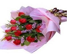 11 adet kirmizi güllerden görsel buket  Elazığ anneler günü çiçek yolla