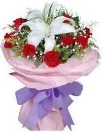 9 adet kirmizi gül 1 adet kazablanka buketi  Elazığ online çiçekçi , çiçek siparişi