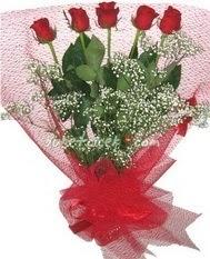5 adet kirmizi gülden buket tanzimi  Elazığ hediye sevgilime hediye çiçek