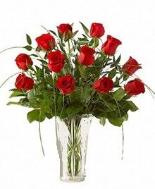 cam yada mika vazo içerisinde 9 kirmizi gül  Elazığ çiçek yolla , çiçek gönder , çiçekçi