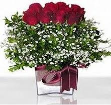 Elazığ İnternetten çiçek siparişi  mika yada cam vazo içerisinde 7 adet gül