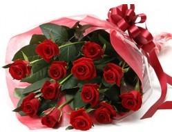 Elazığ çiçekçi mağazası  10 adet kipkirmizi güllerden buket tanzimi
