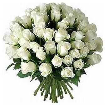 Elazığ çiçekçiler  33 adet beyaz gül buketi