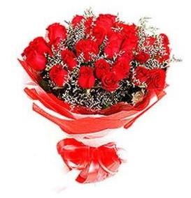 Elazığ internetten çiçek siparişi  12 adet kırmızı güllerden görsel buket