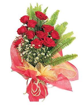 Elazığ 14 şubat sevgililer günü çiçek  11 adet kırmızı güllerden buket modeli