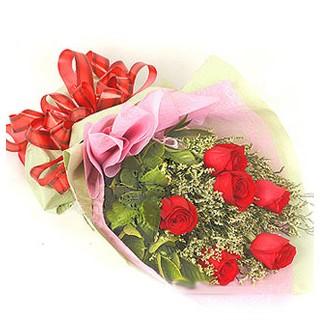 Elazığ kaliteli taze ve ucuz çiçekler  6 adet kırmızı gülden buket