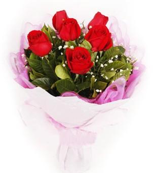 Elazığ çiçek siparişi sitesi  kırmızı 6 adet gülden buket