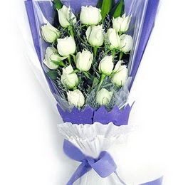 Elazığ online çiçekçi , çiçek siparişi  11 adet beyaz gül buket modeli