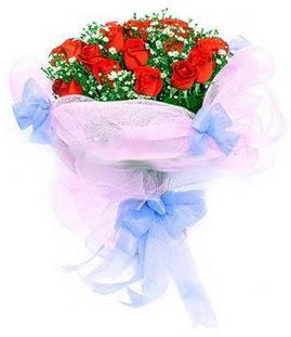 Elazığ çiçek yolla , çiçek gönder , çiçekçi   11 adet kırmızı güllerden buket modeli