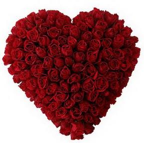 Elazığ online çiçekçi , çiçek siparişi  muhteşem kırmızı güllerden kalp çiçeği