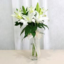 Elazığ çiçekçi mağazası  2 dal kazablanka ile yapılmış vazo çiçeği