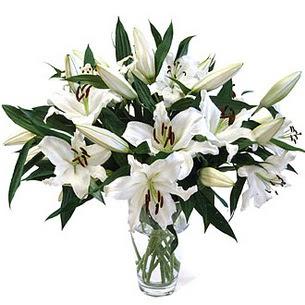 Elazığ çiçek servisi , çiçekçi adresleri  3 dal görsel casablanca vazo tanzimi