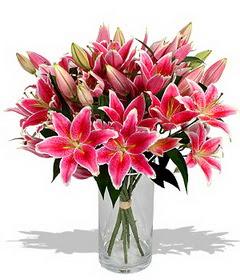 4 dal cazablanca görsel vazosu  Elazığ online çiçekçi , çiçek siparişi