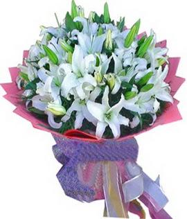 7 dal cazablanca görsel buketi  Elazığ online çiçekçi , çiçek siparişi
