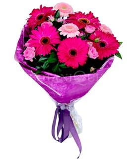 Elazığ çiçek yolla , çiçek gönder , çiçekçi   karışık gerbera çiçeği buketi