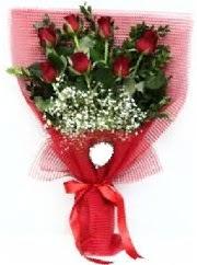 7 adet kırmızı gülden buket tanzimi  Elazığ çiçek satışı