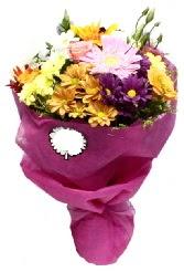 1 demet karışık görsel buket  Elazığ çiçekçi mağazası