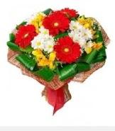 1 demet karışık buket  Elazığ çiçek siparişi sitesi