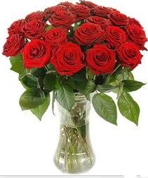 Elazığ internetten çiçek siparişi  Vazoda 15 adet kırmızı gül tanzimi