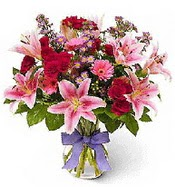 Vazo içerisinde karışık mevsim çiçeği  Elazığ çiçek yolla , çiçek gönder , çiçekçi