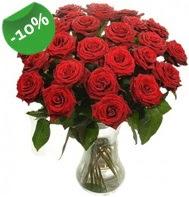 Vazo içerisinde 25 adet kırmızı gül  Elazığ çiçek satışı