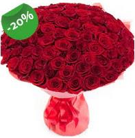 Özel mi Özel buket 101 adet kırmızı gül  Elazığ çiçekçi mağazası