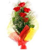 5 li kırmızı gül buketi  Elazığ İnternetten çiçek siparişi