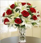 12 adet kırmızı gül 2 dal kazablanka vazosu  Elazığ çiçek mağazası , çiçekçi adresleri