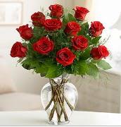 Vazo içerisinde 12 kırmızı gül  Elazığ çiçek mağazası , çiçekçi adresleri