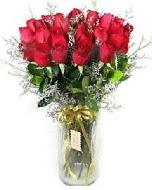 27 adet vazo içerisinde kırmızı gül  Elazığ 14 şubat sevgililer günü çiçek
