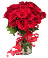 21 adet vazo içerisinde kırmızı gül  Elazığ çiçek mağazası , çiçekçi adresleri
