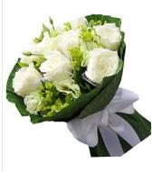 9 adet beyaz gül buketi  Elazığ çiçek yolla , çiçek gönder , çiçekçi