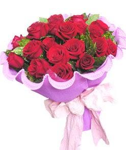 12 adet kırmızı gülden görsel buket  Elazığ online çiçekçi , çiçek siparişi
