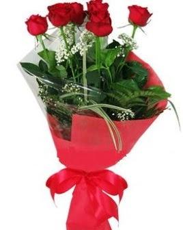 5 adet kırmızı gülden buket  Elazığ çiçek siparişi vermek