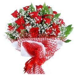 11 kırmızı gülden buket  Elazığ hediye çiçek yolla