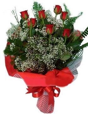 7 kırmızı gül buketi  Elazığ çiçekçiler