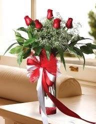 Camda 5 kırmızı gül tanzimi  Elazığ çiçek servisi , çiçekçi adresleri