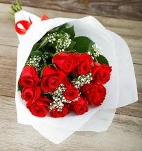 9 kırmızı gülden buket çiçeği  Elazığ çiçek online çiçek siparişi