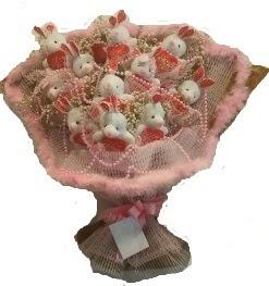 12 adet tavşan buketi  Elazığ internetten çiçek siparişi