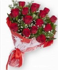 11 adet kırmızı gül buketi  Elazığ çiçek , çiçekçi , çiçekçilik