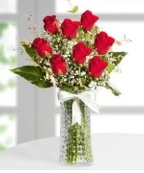 7 Adet vazoda kırmızı gül sevgiliye özel  Elazığ çiçek yolla , çiçek gönder , çiçekçi