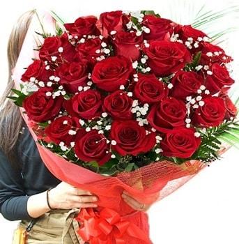 Kız isteme çiçeği buketi 33 adet kırmızı gül  Elazığ anneler günü çiçek yolla